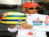 GP BRASILE, 25.11.2011- Lewis Hamilton (GBR), McLaren Mercedes with his special Brazilian GP Helmet, tribute to Ayrton Senna