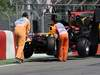 GP CANADA, 10.06.2011- Prove Libere 1, Venerdi', Crash, Sebastian Vettel (GER), Red Bull Racing, RB7