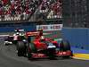 GP EUROPA, 26.06.2011- Gara, Jerome D'Ambrosio (BEL), Marussia Virgin Racing VR-02 davanti a Narain Karthikeyan (IND), Hispania Racing F1 Team, HRT