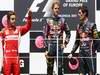 GP EUROPA, 26.06.2011- Gara, Sebastian Vettel (GER), Red Bull Racing, RB7 vincitore, Fernando Alonso (ESP), Ferrari, F-150 Italia secondo e Mark Webber (AUS), Red Bull Racing, RB7 terzo