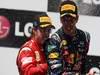 GP EUROPA, 26.06.2011- Gara, Sebastian Vettel (GER), Red Bull Racing, RB7 vincitore e Fernando Alonso (ESP), Ferrari, F-150 Italia secondo