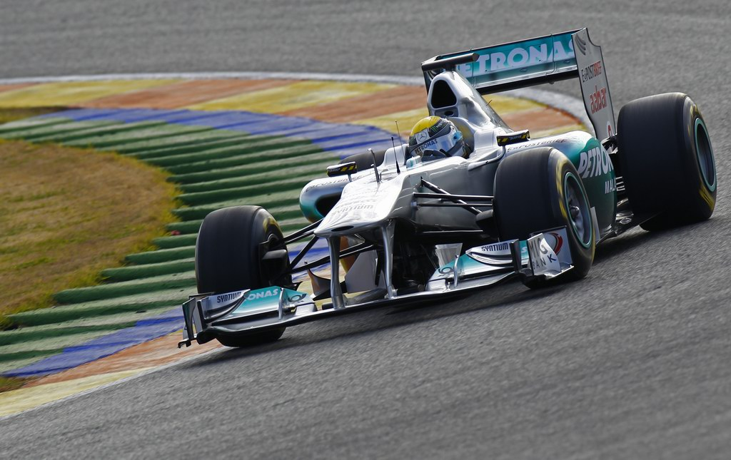 Mercedes MGP W02, 2011 Formula One Testing  Comunitat Valenciana Ricardo Tormo Circuit, Valencia, Spain.  1st February 2011. World Copyright: Glenn Dunbar/LAT Photographic  ref: Digital Image _G7C5877