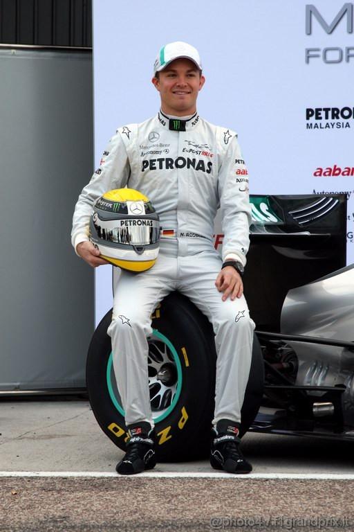 Mercedes MGP W02,  Nico Rosberg (GER), Mercedes GP Petronas F1 Team - Mercedes GP Petronas F1 Team MGP W02 Launch - Formula 1 World Championship
