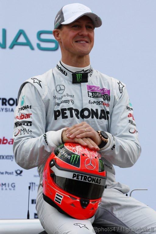 Mercedes MGP W02,  Michael Schumacher (GER), Mercedes GP Petronas F1 Team - Mercedes GP Petronas F1 Team MGP W02 Launch - Formula 1 World Championship