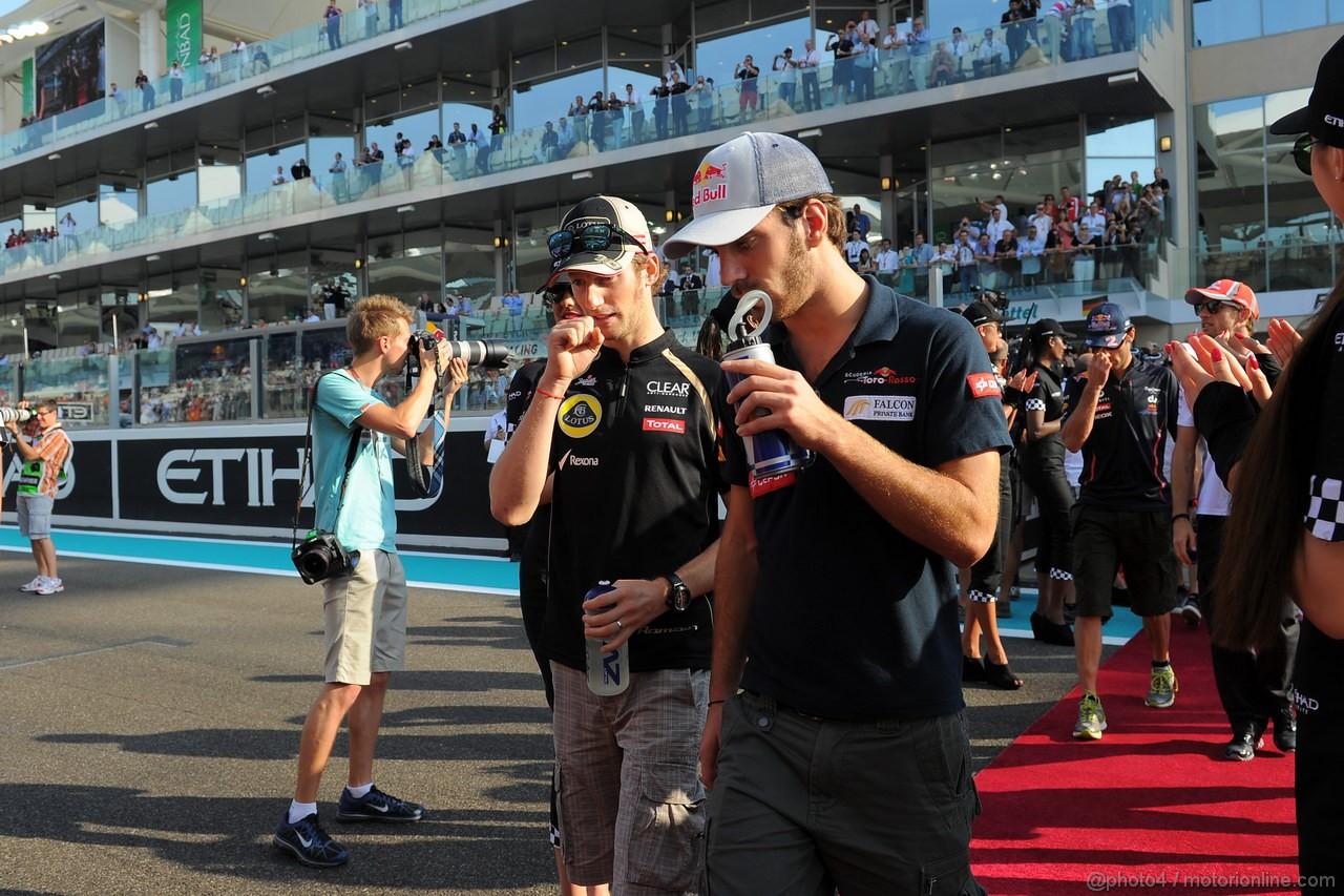 GP ABU DHABI, Drivers Parade: Romain Grosjean (FRA) Lotus F1 Team E20