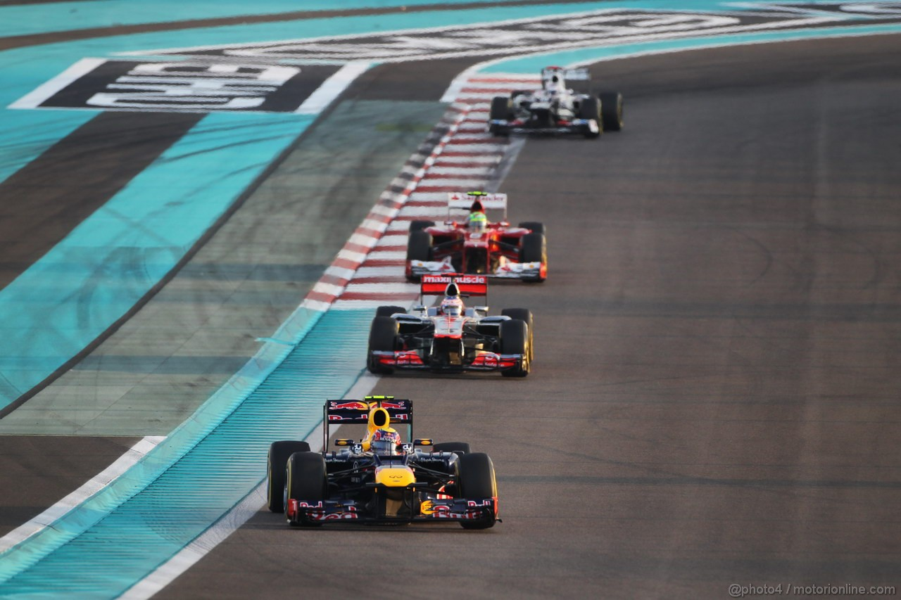 GP ABU DHABI, Gara: Mark Webber (AUS) Red Bull Racing RB8