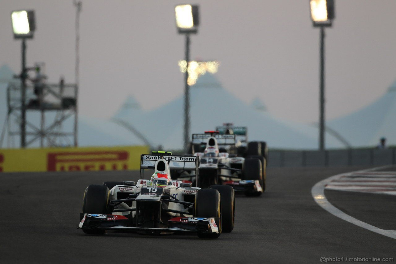 GP ABU DHABI, Gara: Sergio P�rez (MEX) Sauber F1 Team C31