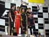 GP ABU DHABI, Podium: Kimi Raikkonen (FIN) Lotus F1 Team E20 (vincitore), Fernando Alonso (ESP) Ferrari F2012 (secondo) e Sebastian Vettel (GER) Red Bull Racing RB8 (terzo)