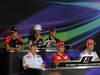 GP ABU DHABI, Conferenza Stampa: Charles Pic (FRA) Marussia F1 Team MR01, Daniel Ricciardo (AUS) Scuderia Toro Rosso STR7, Vitaly Petrov (RUS) Caterham F1 Team CT01, Kamui Kobayashi (JAP) Sauber F1 Team C31, Felipe Massa (BRA) Ferrari F2012 e Jenson Button (GBR) McLaren Mercedes MP4-27