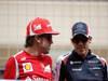 GP BAHRAIN, 22.04.2012- Fernando Alonso (ESP) Ferrari F2012 e Pastor Maldonado (VEN) Williams F1 Team FW34