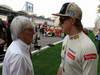 GP BAHRAIN, 22.04.2012- Gara, Bernie Ecclestone (GBR), President e CEO of Formula One Management  e Kimi Raikkonen (FIN) Lotus F1 Team E20