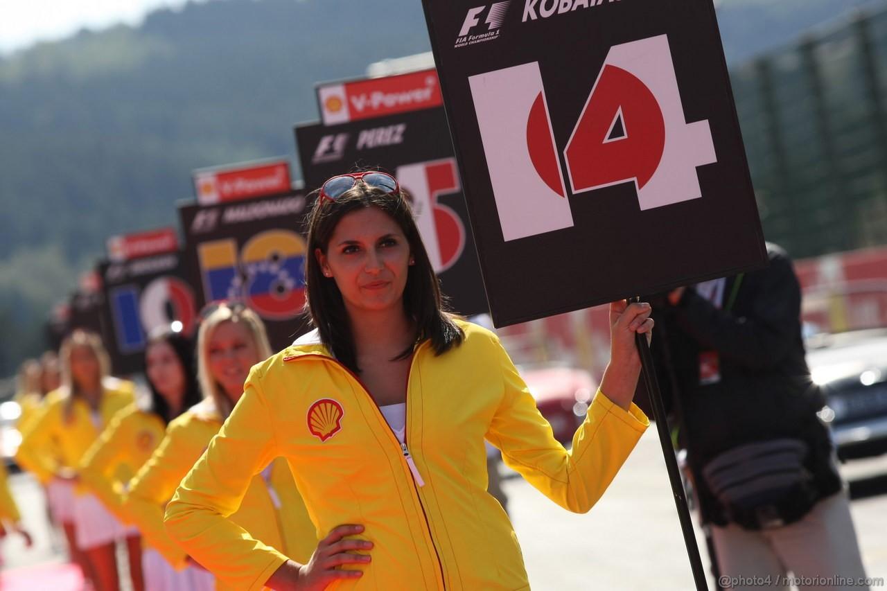GP BELGIO, 02.09.2012- griglia Ragazzas