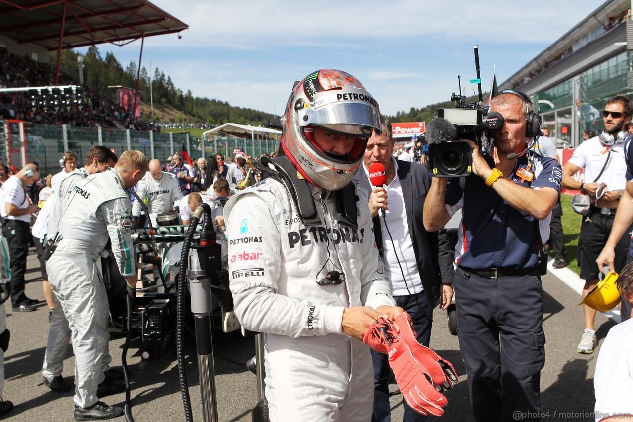 GP BELGIO, 02.09.2012- Gara, Michael Schumacher (GER) Mercedes AMG F1 W03