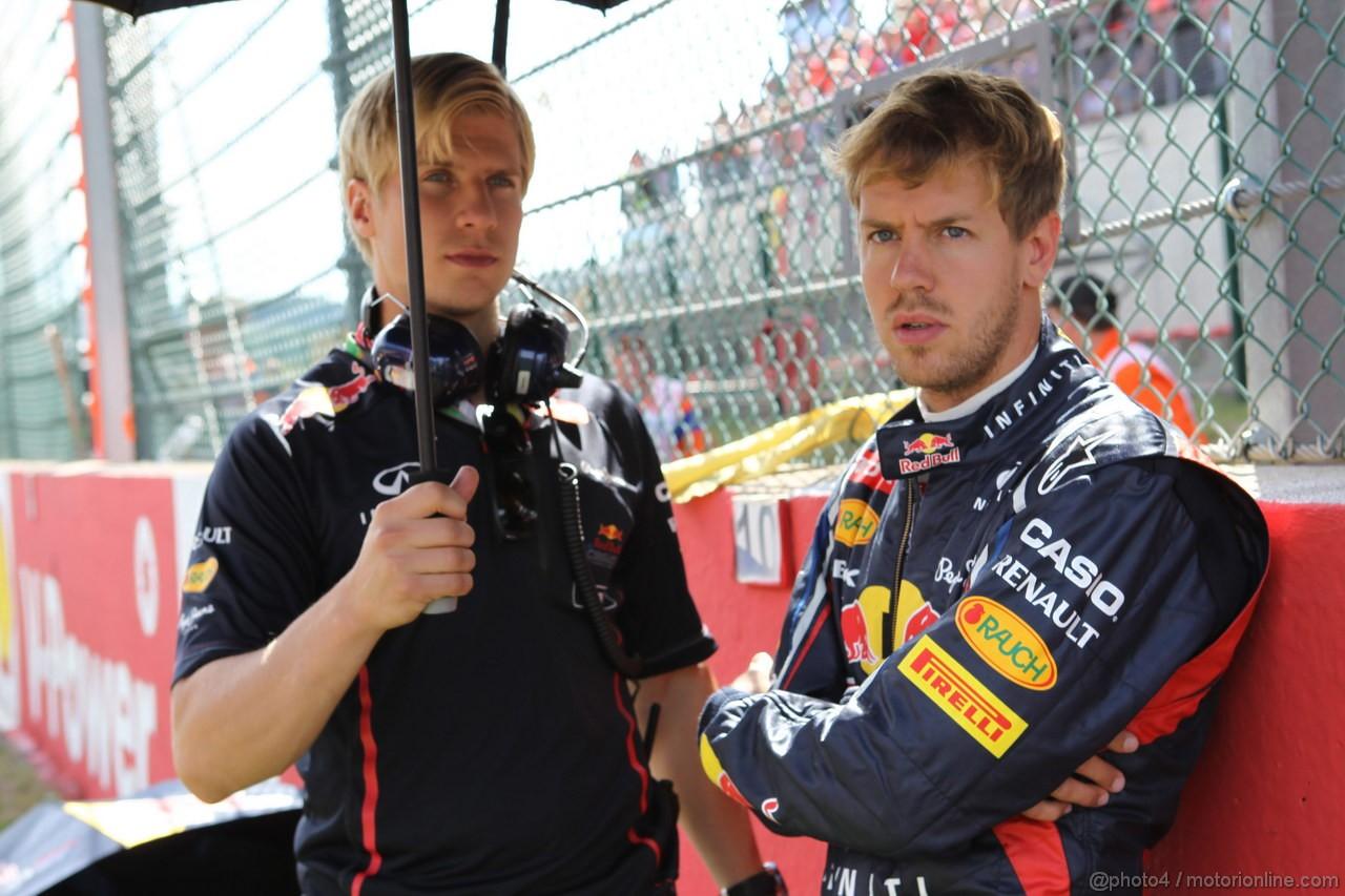 GP BELGIO, 02.09.2012- Gara, Sebastian Vettel (GER) Red Bull Racing RB8