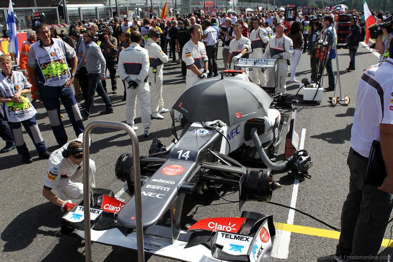 GP BELGIO, 02.09.2012- Gara, Kamui Kobayashi (JAP) Sauber F1 Team C31