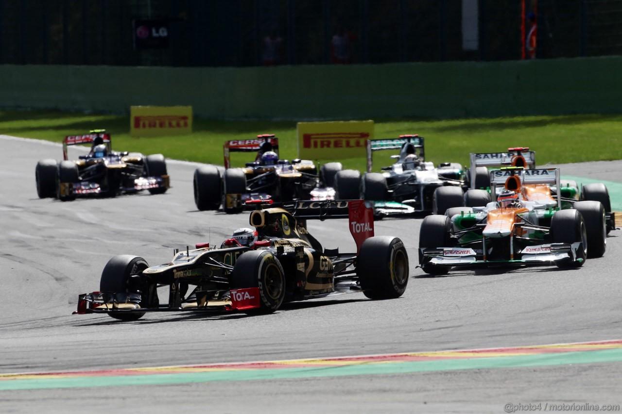GP BELGIO, 02.09.2012- Gara, Kimi Raikkonen (FIN) Lotus F1 Team E20