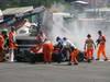 GP BELGIO, 02.09.2012- Gara, Start of the race, Crash, Fernando Alonso (ESP) Ferrari F2012