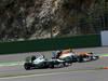 GP BELGIO, 02.09.2012- Gara, Nico Rosberg (GER) Mercedes AMG F1 W03 e Nico Hulkenberg (GER) Sahara Force India F1 Team VJM05