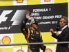GP BELGIO, 02.09.2012- Gara, terzo Kimi Raikkonen (FIN) Lotus F1 Team E20 e Jackie Icks