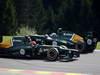 GP BELGIO, 02.09.2012- Gara, Heikki Kovalainen (FIN) Caterham F1 Team CT01 spins e Vitaly Petrov (RUS) Caterham F1 Team CT01