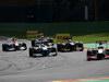 GP BELGIO, 02.09.2012- Gara, Pedro de la Rosa (ESP) HRT Formula 1 Team F112 davanti a Michael Schumacher (GER) Mercedes AMG F1 W03