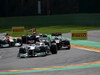 GP BELGIO, 02.09.2012- Gara, Michael Schumacher (GER) Mercedes AMG F1 W03 davanti a Kimi Raikkonen (FIN) Lotus F1 Team E20