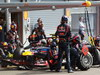 GP BELGIO, 02.09.2012- Gara, Pit Stop, Mark Webber (AUS) Red Bull Racing RB8