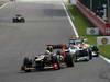 GP BELGIO, 02.09.2012- Gara, Kimi Raikkonen (FIN) Lotus F1 Team E20 davanti a Michael Schumacher (GER) Mercedes AMG F1 W03