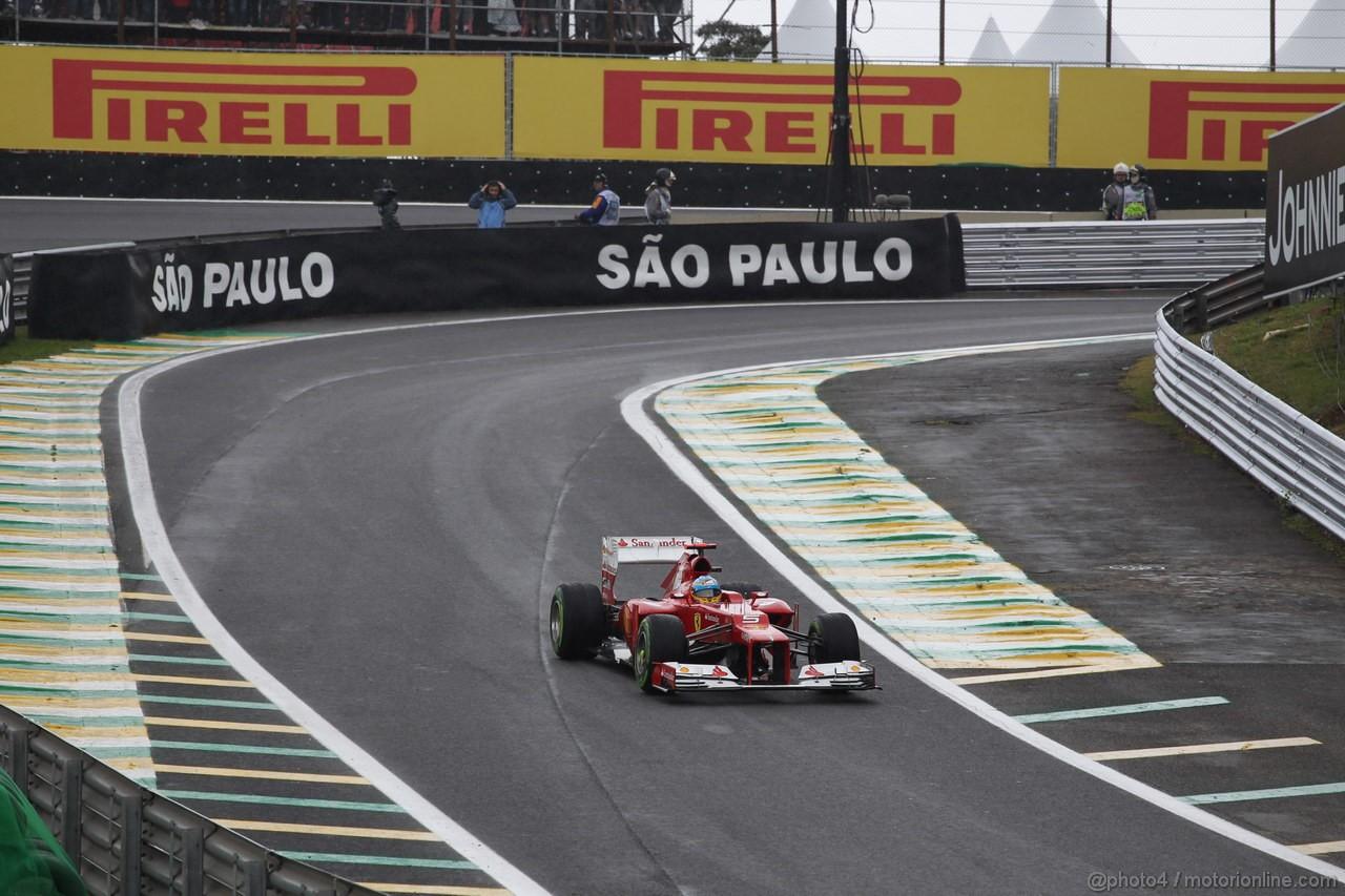 GP BRASILE, 25.11.2012- Gara, Fernando Alonso (ESP) Ferrari F2012