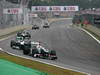 GP BRASILE, 25.11.2012- Gara, Kamui Kobayashi (JAP) Sauber F1 Team C31 davanti a Nico Rosberg (GER) Mercedes AMG F1 W03