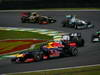 GP BRASILE, 25.11.2012- Gara, Mark Webber (AUS) Red Bull Racing RB8 e Kamui Kobayashi (JAP) Sauber F1 Team C31