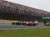 GP BRASILE, 25.11.2012- Gara, Vitaly Petrov (RUS) Caterham F1 Team CT01 e Timo Glock (GER) Marussia F1 Team MR01