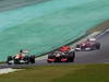 GP BRASILE, 25.11.2012- Gara, Nico Hulkenberg (GER) Sahara Force India F1 Team VJM05 e Jenson Button (GBR) McLaren Mercedes MP4-27