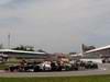 GP CANADA, 10.06.2012- Gara, Start of the race, Kamui Kobayashi (JAP) Sauber F1 Team C31 e Kimi Raikkonen (FIN) Lotus F1 Team E20