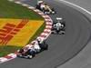 GP CANADA, 10.06.2012- Gara, Kamui Kobayashi (JAP) Sauber F1 Team C31 e Sergio Pérez (MEX) Sauber F1 Team C31