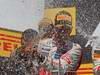 GP CANADA, 10.06.2012- Gara, 1st position Lewis Hamilton (GBR) McLaren Mercedes MP4-27, secondo Romain Grosjean (FRA) Lotus F1 Team E20 e terzo Sergio Pérez (MEX) Sauber F1 Team C31