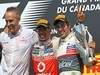 GP CANADA, 10.06.2012- Gara, Martin Whitmarsh (GBR), Chief Executive Officer Mclaren, Lewis Hamilton (GBR) McLaren Mercedes MP4-27 vincitore e terzo Sergio Pérez (MEX) Sauber F1 Team C31