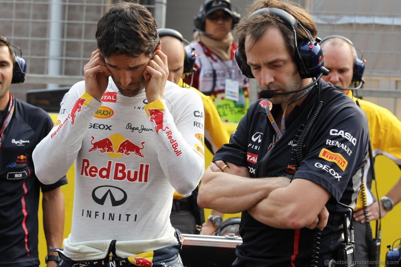 GP COREA, 14.10.2012- Gara, Mark Webber (AUS) Red Bull Racing RB8