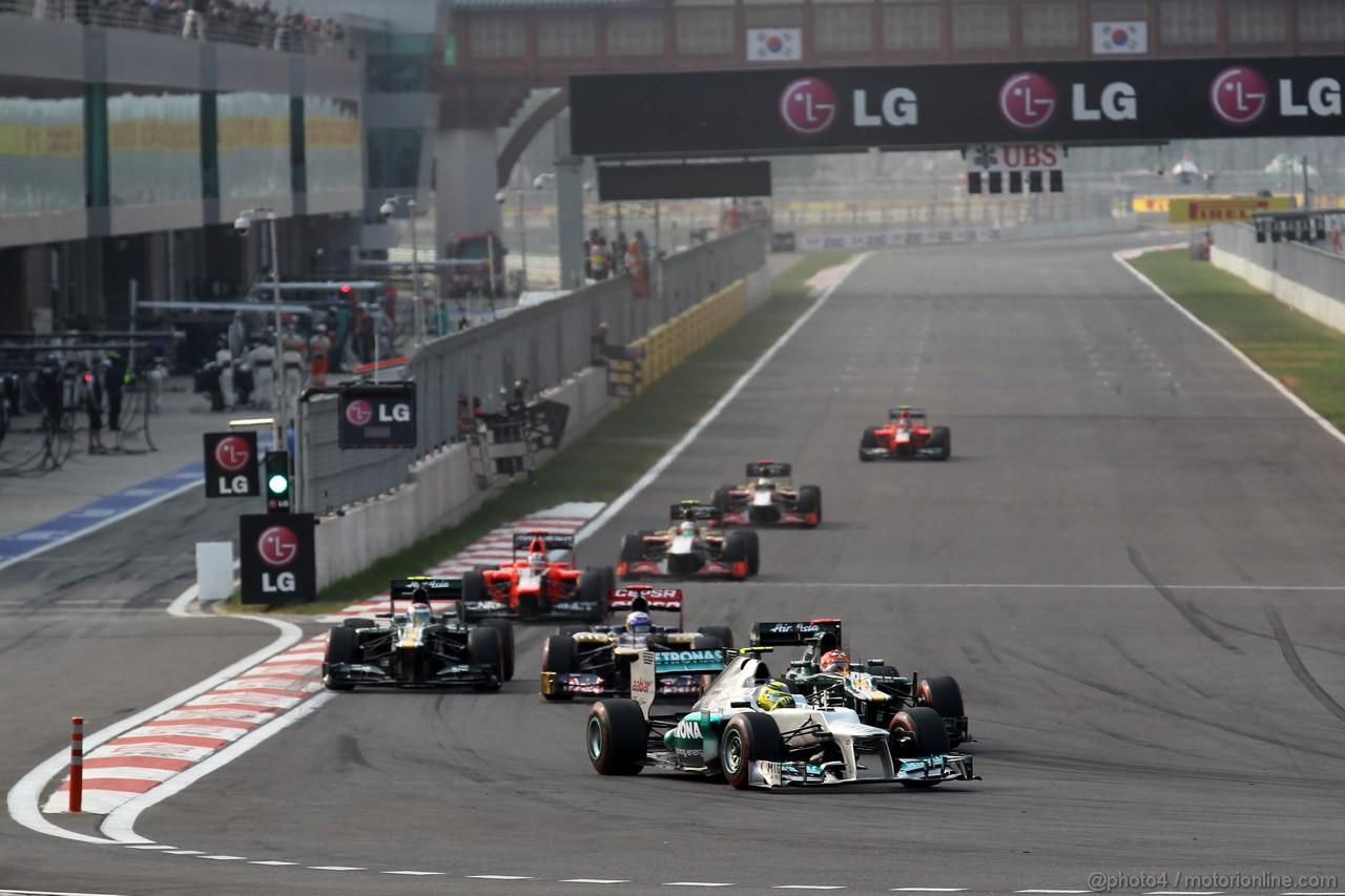 GP COREA, 14.10.2012- Gara, Nico Rosberg (GER) Mercedes AMG F1 W03