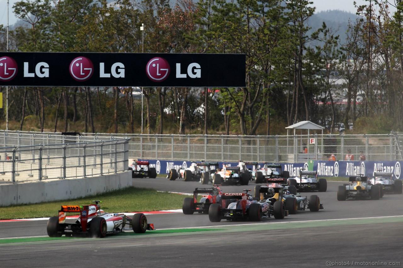 GP COREA, 14.10.2012- Gara, Narain Karthikeyan (IND) HRT Formula 1 Team F112