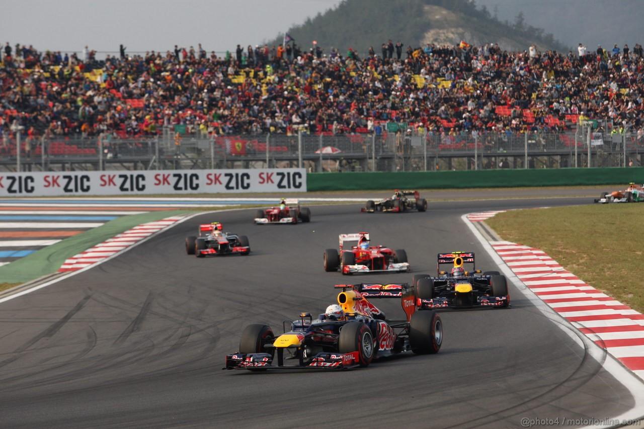 GP COREA, 14.10.2012- Gara, Sebastian Vettel (GER) Red Bull Racing RB8