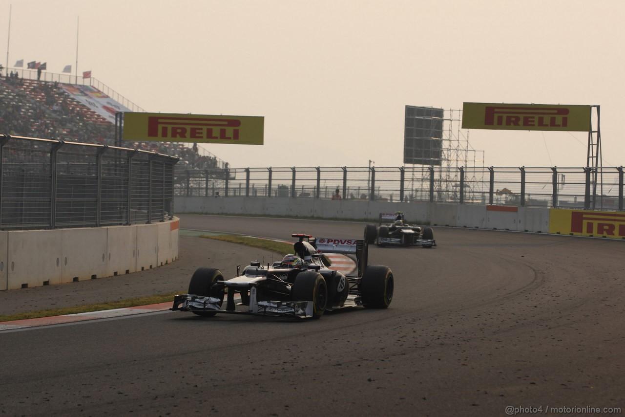 GP COREA, 14.10.2012- Gara, Pastor Maldonado (VEN) Williams F1 Team FW34