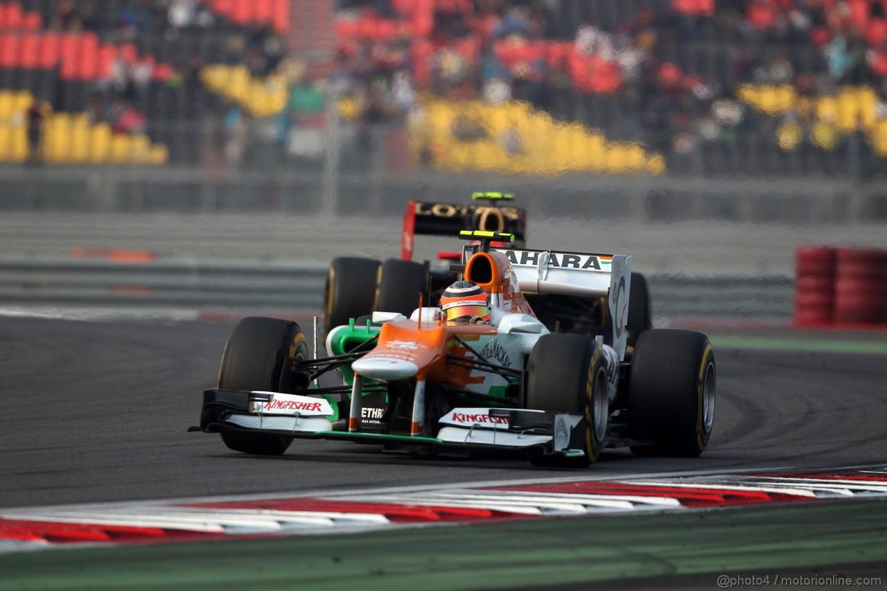 GP COREA, 14.10.2012- Gara, Nico Hulkenberg (GER) Sahara Force India F1 Team VJM05