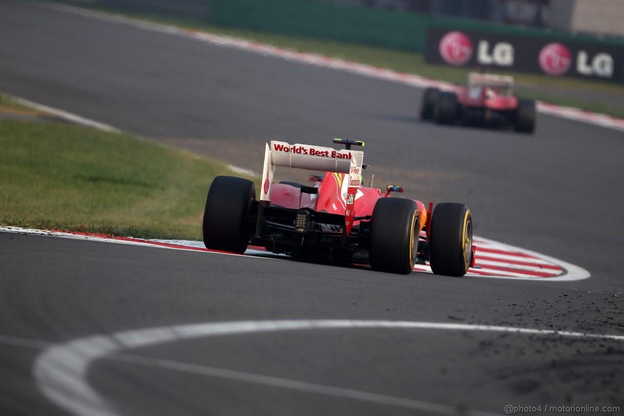 GP COREA, 14.10.2012- Gara, Felipe Massa (BRA) Ferrari F2012 e Fernando Alonso (ESP) Ferrari F2012