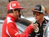 GP COREA, 14.10.2012- Fernando Alonso (ESP) Ferrari F2012 e Kimi Raikkonen (FIN) Lotus F1 Team E20
