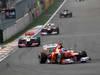 GP COREA, 14.10.2012- Gara, Fernando Alonso (ESP) Ferrari F2012 davanti a Lewis Hamilton (GBR) McLaren Mercedes MP4-27