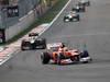 GP COREA, 14.10.2012- Gara, Felipe Massa (BRA) Ferrari F2012 davanti a Kimi Raikkonen (FIN) Lotus F1 Team E20