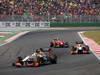 GP COREA, 14.10.2012- Gara, Narain Karthikeyan (IND) HRT Formula 1 Team F112 davanti a Pedro de la Rosa (ESP) HRT Formula 1 Team F112