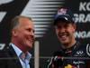 GP COREA, 14.10.2012- Gara, Johnny Herbert (GBR) e Sebastian Vettel (GER) Red Bull Racing RB8 vincitore
