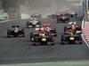 GP COREA, 14.10.2012- Gara, Start of the race, Sebastian Vettel (GER) Red Bull Racing RB8 e Mark Webber (AUS) Red Bull Racing RB8
